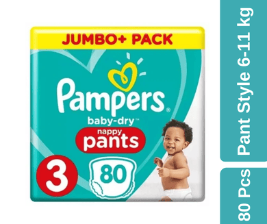 Maya pharmacy diaper Pampers Baby Pants 80 pcs