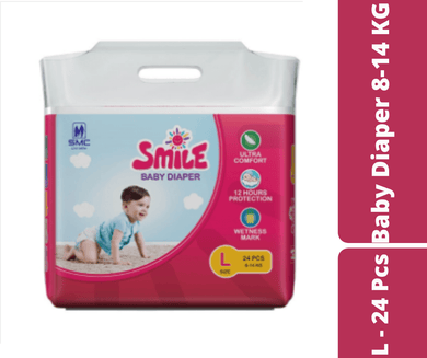 Mayalogy Ltd. diaper Smile Baby Diaper L - 24 Pcs