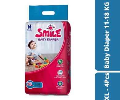 Mayalogy Ltd. diaper Smile Baby Diaper XL - 4 Pcs