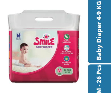 Mayalogy Ltd. diapers Smile Baby Diaper M - 26 Pcs