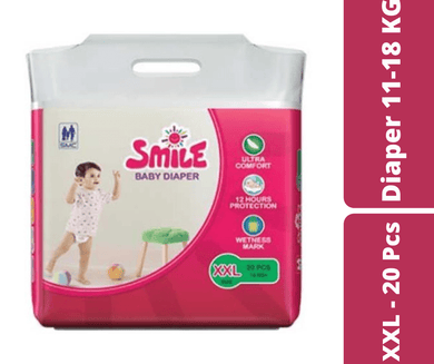Mayalogy Ltd. diapers Smile Baby Diaper XXL - 20 Pcs