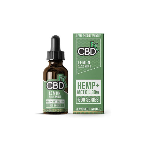 CBDfx Lemon Lime Mint 30ml CBD Tincture Oil - 500/1000/1500 MGs