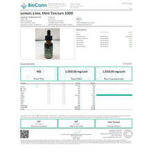 Load image into Gallery viewer, CBDfx Lemon Lime Mint 30ml CBD Tincture Oil - 500/1000/1500 MGs