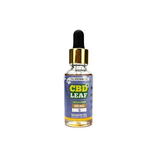 Medium PAWS 500mg Full Spectrum CBD Oil for Pets (with Salmon Oil) by CBD Leaf
