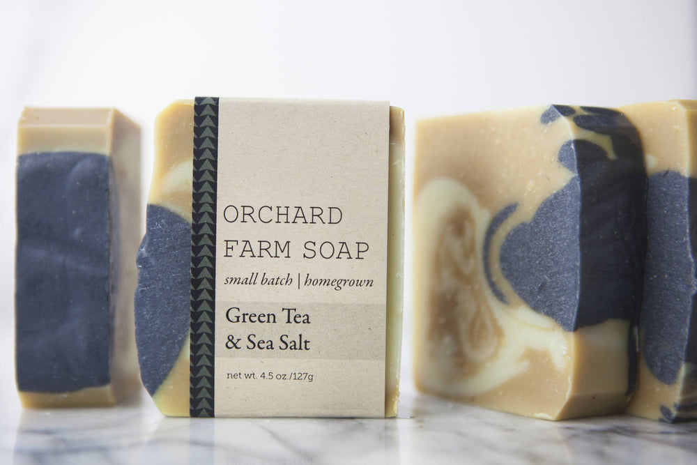 Green Tea+Sea Salt Soap// Activated Charcoal// Coconut Milk Bar