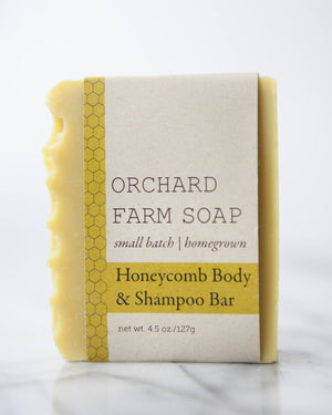 Honeycomb Shampoo and Body Bar//Natural Soap//Homegrown Botanicals