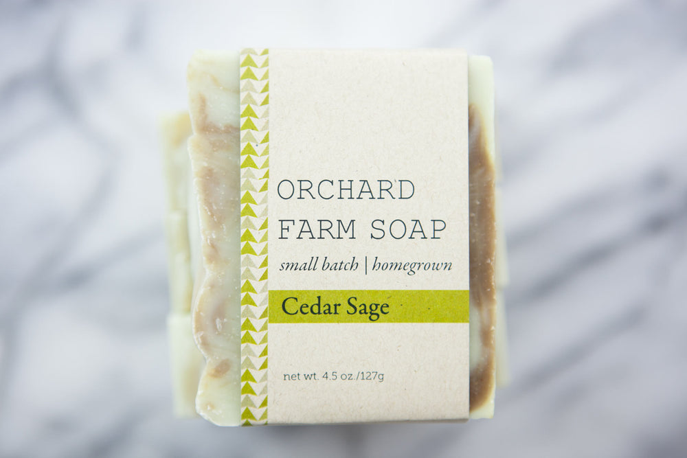 Cedar Sage Bar//Natural Soap//Orchard Farm Soap