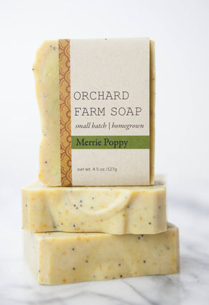 Merrie Poppy Soap//Natural Soap//Homegrown Botanicals