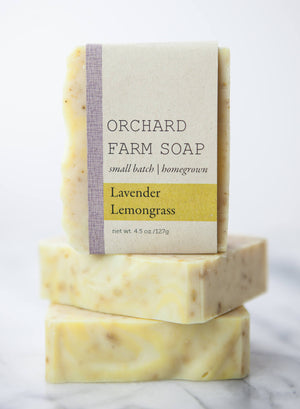 Lavender Lemongrass Soap//Homegrown Soap//Natural Soap