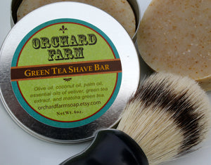 Green Tea Shaving Soap// Natural Shave// Travel Soap