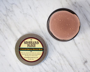 Cedar Grove Men's Shave Soap//Natural Shave Bar//Mens Grooming