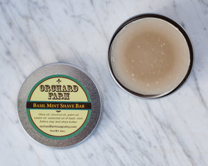 Basil Mint Shaving Soap// Natural Shave// Mens Shave Soap