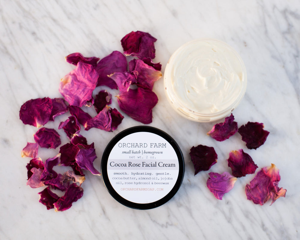Cocoa Rose Facial Cream//Natural Lotion//Pure Skin