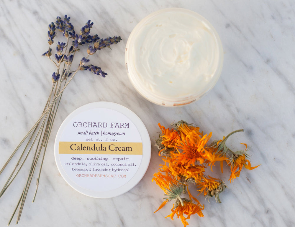 Calendula Cream//Natural Lotion//Homegrown Botanicals