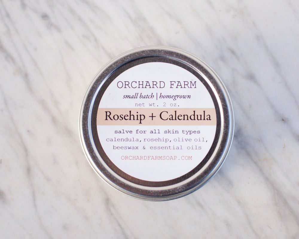Calendula + Rosehip Salve//Natural Skin Care//Small Batch