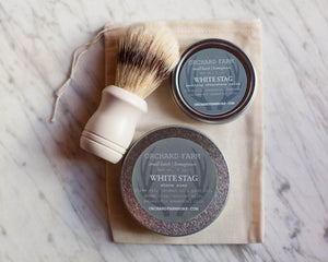 White Stag Shave Soap//Natural Shave//Homegrown Botanicals