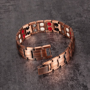 Magnetic Therapy Copper Bracelet with 4 Elements Energy
