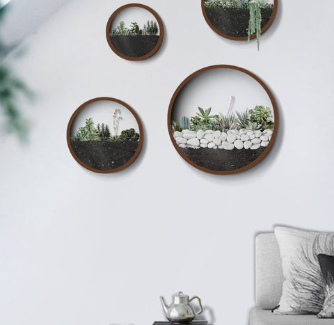 Round Metal Wall Vases