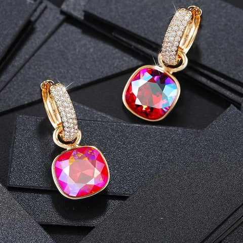 Swarovski Crystals Gold Plated Earrings