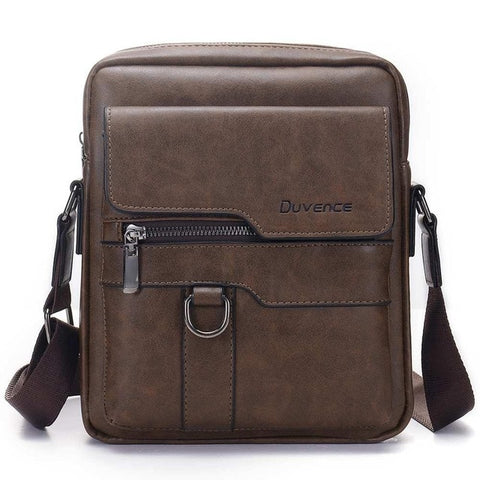 Image of coffee Leather Messenger Bag