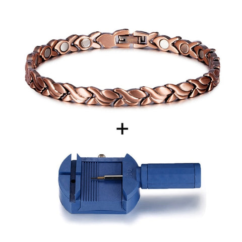 Image of Copper Bracelet for Women with adjusting tool