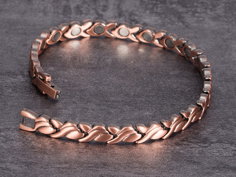 Image of Copper Bracelet for Women opened