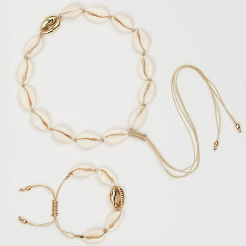Puka Shell Necklace & Bracelet