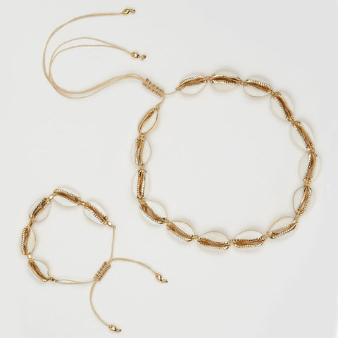 Image of Puka Shell Necklace & Bracelet