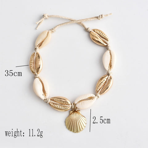 Image of Hawaiian Puka Shell Anklet