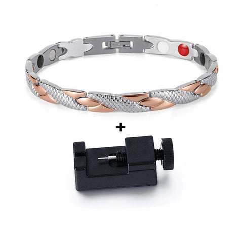 magnetic bracelet with adjusting tool.