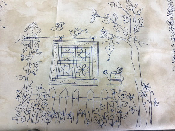 A Quilters Garden Panel and Fabrics