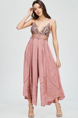Lace topped Jumpsuit