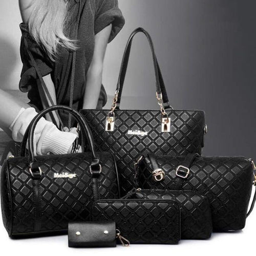 Grid Shape Handbag Sets