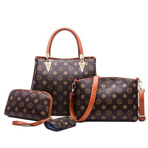 Women's  Leather Handbags Set