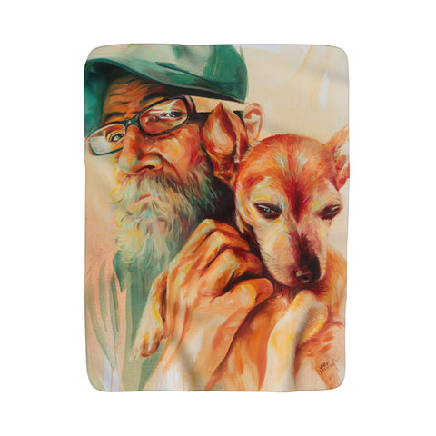 James & Charley Sherpa Fleece Blanket