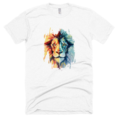 Lion Unisex Poly-Cotton Short Sleeve Crew Neck