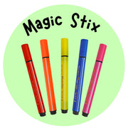Magic Stix Washable Markers, Won't Dry Out for 7 Days with the Cap Off Guaranteed