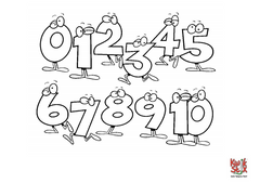 numbers coloring sheet