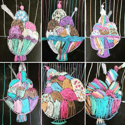 Ice Cream Paintings for Kids
