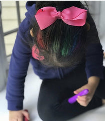 girl with hair chalk in hair