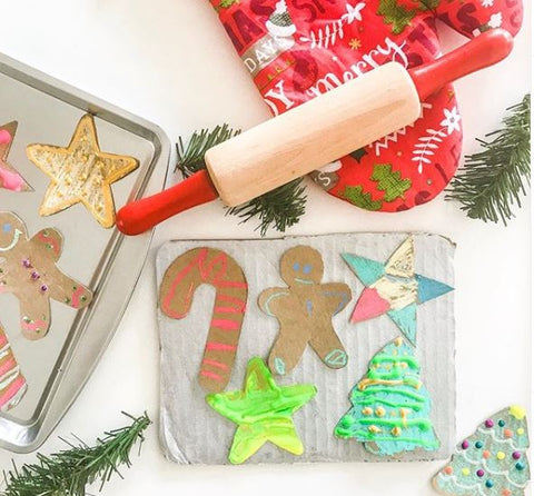 cardboard cookies with wonder stix