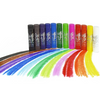 Kwik Stix Solid Tempera Paint Sticks, Set of 24- 12 Classic, 6 Metallic and 6 Neon Colors