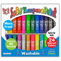24 pack solid tempera paint sticks kwik stix