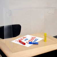 Personal Space ™ Crystal Clear Desk Dividers, Large: Middle-High School