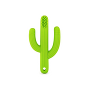 green cactus silicone training toothbrush