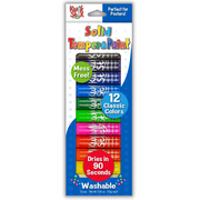 Kwik Stix Solid Tempera Paint Sticks, Set of 12 Classic Colors, crafts for kids