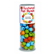 Textured pop beads for tactile awareness