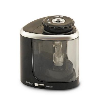 The Duet Manual and Battery Pencil Sharpener, Black