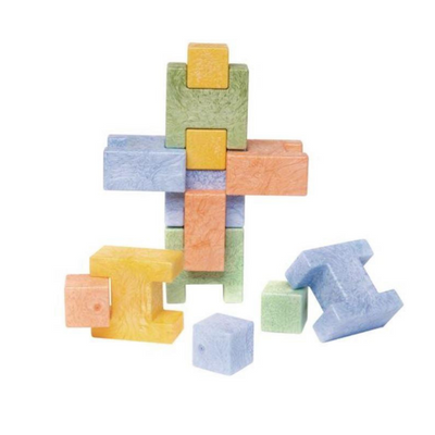 Wally Brick Block Stacking Toy Stem Kit