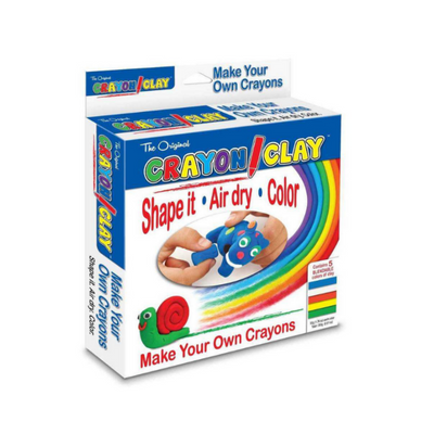 art and craft ideas for kids, crayon clay, coloring crafts for kids